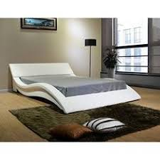 Floating Headboard With Nightstands by White Leather Modern Platform Bed With Headboard Cushions
