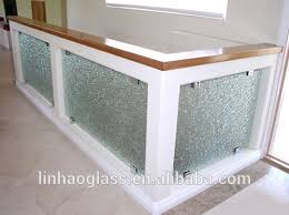 customized frameless art glass railing fused glass stair railing