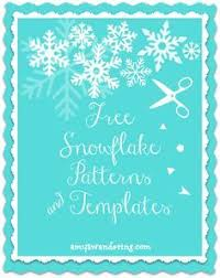 snowflake templates to cut snowflake template template and free