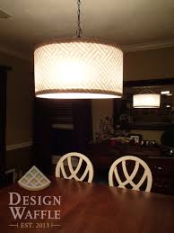 Large Drum Light Fixture by Diy Chandelier Drum Shade Design Waffle