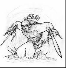 marvelous ninja turtle line art with ninja turtles coloring pages