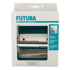 futura polished chrome recessed toilet paper holder d2497pc
