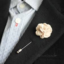 Lapel Flower Wool Rose Men U0027s Flower Boutonniere Buttonhole For Wedding Lapel