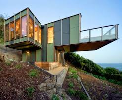 steep hillside house plans modular house design perched on a steep slope overlooking