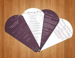 sle of wedding programs ceremony diy wedding programs create interesting program fans for wedding