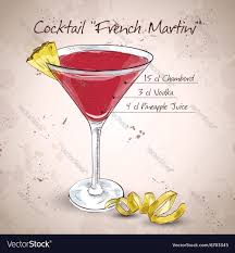 martini vector french martini cocktail royalty free vector image