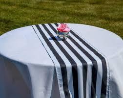 black white striped table runner striped table runner etsy