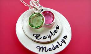 Stamped Jewelry Hand Stamped Jewelry Hannah Design Groupon