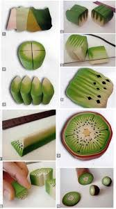 polymer clay home decor tuto fimo cane kiwi diy and home decor pinterest clay