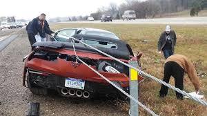 corvette crash 2015 chevrolet corvette z06 convertible crashes in michigan