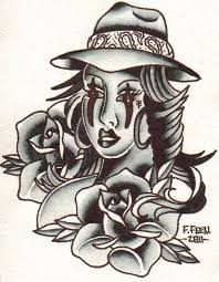 27 best gangster tattoo flash designs images on pinterest flash