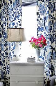 White And Navy Curtains Impressive Blue And White Patterned Curtains Inspiration With Best