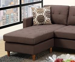 Reversible Sectional Sofa Reversible Sectional Sofa In Chocolate Fabric By Boss