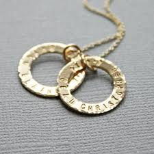 necklace with baby name gold washer ring s necklace with baby name and birth date
