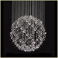 Ball Chandelier Lights Crystal Ball Chandelier Lighting Fixture Home Design Ideas