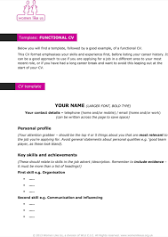 download functional cv template for free formtemplate
