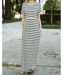 striped maxi dress ivory black u2013 rose gold vintage
