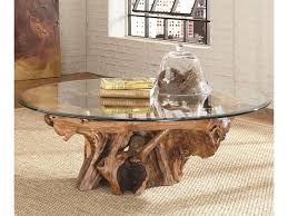 Hammary Sofa Table by Hammary Hidden Treasures Root Ball Cocktail Table With Glass Top
