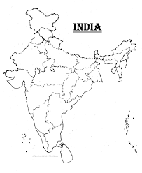 Indian Map Indian Map Drawing Image Gallery Hcpr