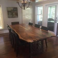 repurposed dining table live edge dining tables