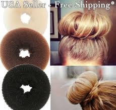 wholesale hair volumizing scrunchie donut ring style bun scrunchy
