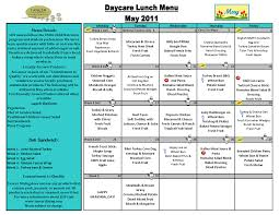 daycare menu template professional sample templates