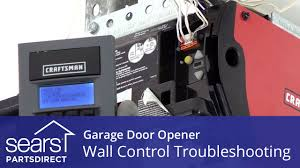 garage door opener doesn u0027t work wall control troubleshooting