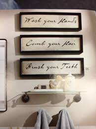 bathroom decor words in frames upstairs above toilet for the