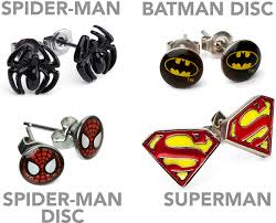 batman earrings earrings thinkgeek
