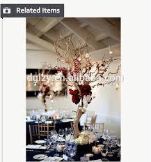 near natural manzanita tree for wedding table wedding decoration