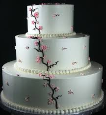 tiered wedding cakes tiered cherry blossom wedding cake dolce biscotti