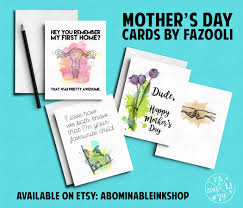 mothers day cards mockup colour etsy abominable ink