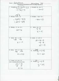 fractions solving equations with worksheet multi step answers grade involving tes linear full