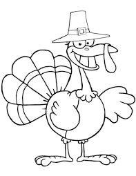 cartoon pilgrim turkey coloring free printable coloring pages
