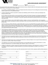 business non disclosure agreement mutual non disclosure agreement