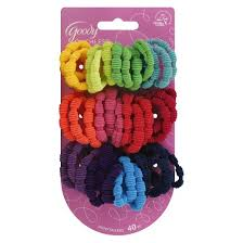 goody hair ties goody ribbed ponytail holders 40 ct target