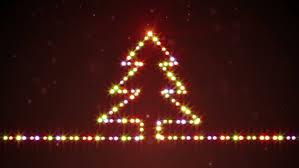 christmas tree shape lights computer generated seamless loop