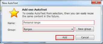 si e auto tex wie erstellt und fügt ein auto text eintrag in excel ein