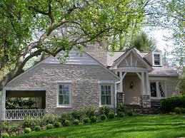 Home Exterior Design Stone Adorable Exterior Design Ideas With Wide Glass Window Also White