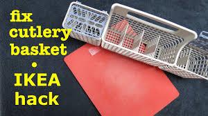 Kitchenaid Dishwasher Utensil Holder How To Fix Dishwasher Basket Using Ikea Cutting Board Youtube