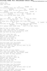 christmas carol song lyrics with chords for driving home for