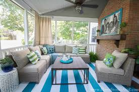Decorating Screened Porch Lowe U0027s Screen Porch And Deck Makeover Reveal
