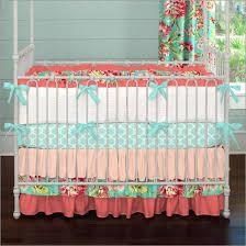 Purple And Aqua Crib Bedding Bedding Cribs Shabby Chic Stacker Machine Washable Trend