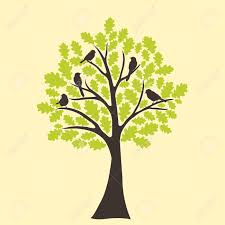 tree and bird royalty free cliparts vectors and stock