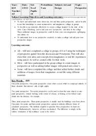 Design Your Own Bedroom Lesson Plan Perspective Lesson Plan Secondary Education