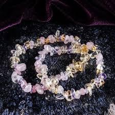 pink quartz bracelet images Rose quartz citrine amethyst mixed crystal bracelets for triple jpg