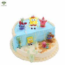 spongebob cake toppers 7pcs anime spongebob pvc figure cake topper picks