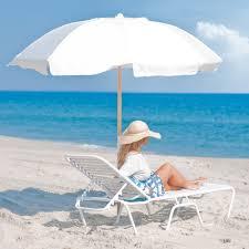 Beach Sun Umbrella 7 5 Ft Frankford Acrylic Beach Spf 50 Umbrella With Vent Beach