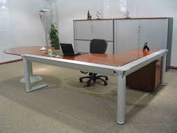 L Shaped Contemporary Desk Office L Shaped Desk With Two File Drawers Best Home