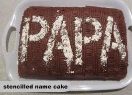 stencilled name cake stephanie marchetti sandpaper u0026 glue a